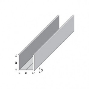 Square 'U' Shape Profile - Raw Aluminium