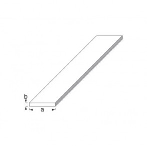 Flat Bar Profile - Silver Anodised Aluminium