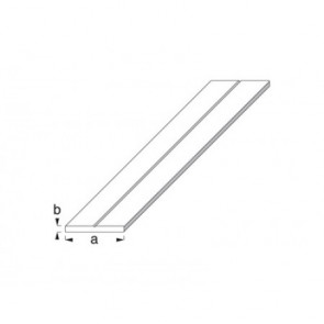 Flat Bar Profile - Raw Aluminium