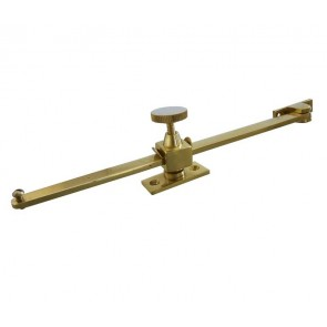 Sliding Window Stay - Brass