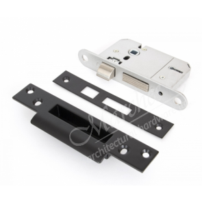 British Standard 5 Lever Sashlocks Key Alike (Black) - Various Sizes