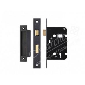 3 Lever Sash Lock - Black (Various Sizes)