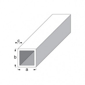 Square Tube Profile - Silver Anodised Aluminium