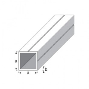 Square Tube Profile - Raw Aluminium