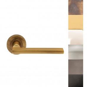 Trentino Lever Handle on Rose - Various Finishes