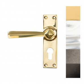 Straight Lever Euro Lock Set - Various Finishes