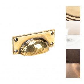 Hammered Art Deco Drawer Pull - Various Finishes