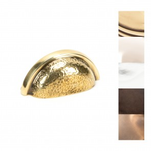 Hammered Regency Concealed Drawer Pull - Various Finishes