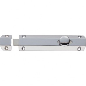 Surface Door Bolt - Polished Chrome - Various Sizes