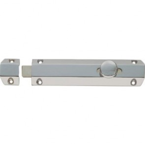 Surface Door Bolt - Satin Chrome - Various Sizes