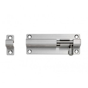 Straight Barrel Door Bolt - Satin Stainless Steel - Various Sizes