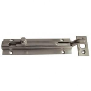 Cranked Barrel Door Bolt - Satin Nickel - Various Sizes