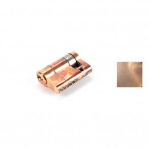 5 Pin Single Euro Cylinder Polished Bronze - Various Sizes