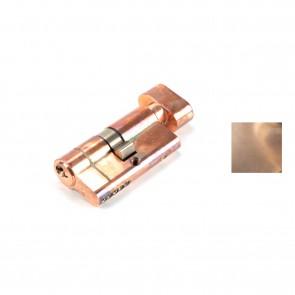 5 Pin Euro Cylinder/ Thumbturn Polished Bronze - Various Sizes