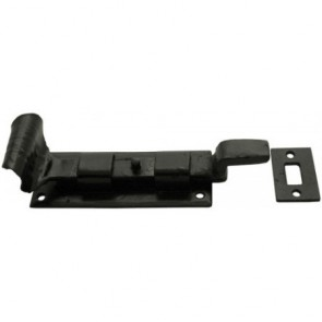 Handmade Cranked Door Bolt - Black - Various Sizes