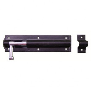 Straight Door Bolt - Epoxy Black - Various Sizes
