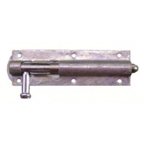 Straight Door Bolt - Galvanised - Various Sizes