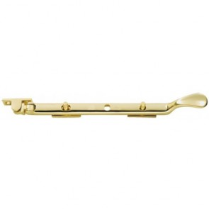 Victorian Casement Stay - Polished Brass