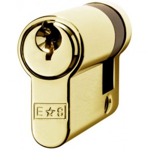 Single (Half) Euro Cylinder Key To Differ - Polished Brass