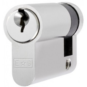 Single (Half) Euro Cylinder Key To Differ - Satin Chrome
