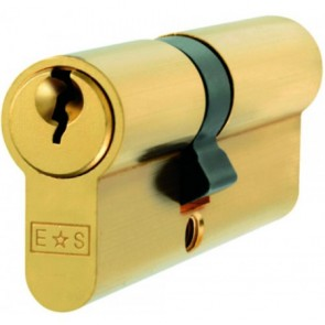 Double Euro Cylinder Key To Differ - Polished Brass