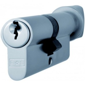 Thumbturn Euro Cylinder Key to Differ - Polished Chrome