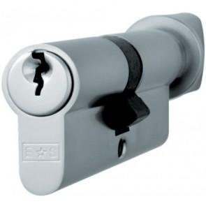 Thumbturn Euro Cylinder Key to Differ - Satin Chrome