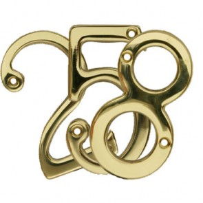 Numerals - Polished Brass - Various Numbers