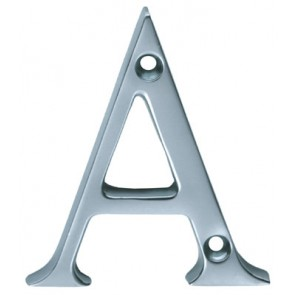 Letters A to D - Polished Chrome