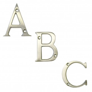 Letters A to D - Satin Chrome