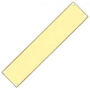 Finger Plate - Polished Brass - Various Sizes
