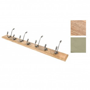 Natural Smooth Hook Racks- Various Finishes & Styles