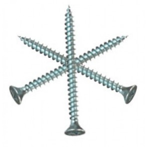 5mm (Gauge 10) Zinc Pozi Screws (length 20-100mm)