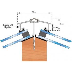 Exitex - Capex 70 Hip Bar + Rag 55 2.4m - 6m - Aluminium