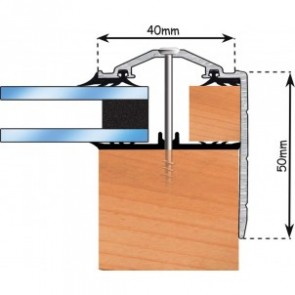 Exitex -  Capex 40 Gable End Finishing Profile + Rag 45 - Various Finishes