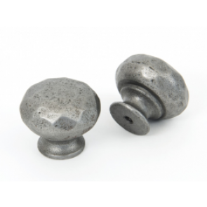 Pewter Hammered Knob - Various Sizes