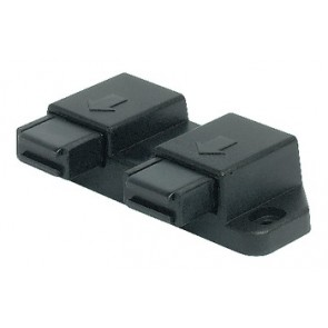 Magnetic Catch Black for double doors- black