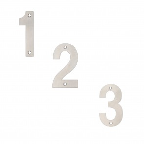 "4"" Numerals - Grade 304 Stainless Steel - Various Numbers"