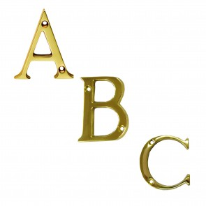 Letters A to D - Polished Brass