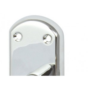 Olton Lever Lock Handle Set - Polished Chrome