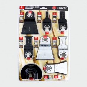 Multi-Tool Blade 8 piece Set (For Wood, Metal & Plastic)