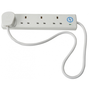 Trailing Socket 240 Volt Anti-Surge 4 Way Socket 13 Amp 2 Metre