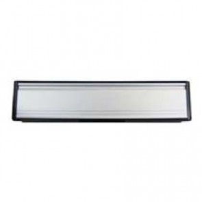 Silver & Black UPVC Letterbox 300 x 70mm