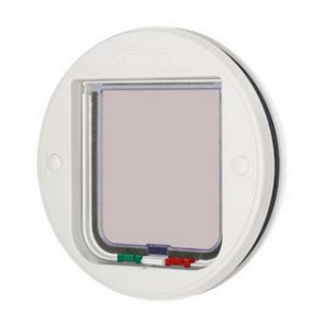 Locking Cat Flap for Glass - White
