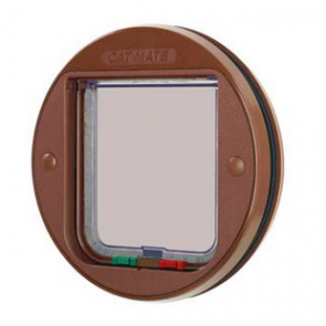 Locking Cat Flap for Glass - Brown
