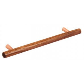 T-Bar Handle, 218mm (160mm cc)- Walnut/Copper