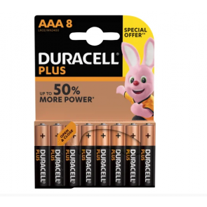 Duracell AAA Batteries (Pack 8)