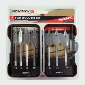 6 Piece Flat Wood Bit Set