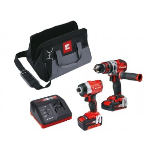 Einhell Brushless Kit Inc Combi Drill, Impact Drill & x3 Batteries
