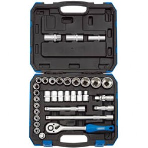 "1/2"" Square Drive Socket Set (33 Piece) Combined MM/AF"